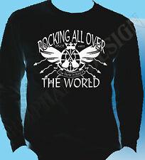 STATUS QUO Inspirado Camiseta manga larga Mecedora Todo the world STATUS QUO