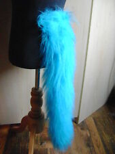 Animal Tail Turquoise Blue Luxury Faux Fur Pile Fancy Dress Tail 28 Inches Long