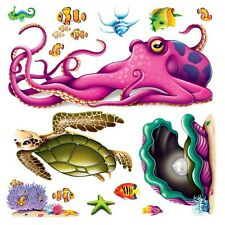 *13 colorful SEA CREATURE PROPS*wall decoration*UNDER THE SEA*ocean*TROPICAL