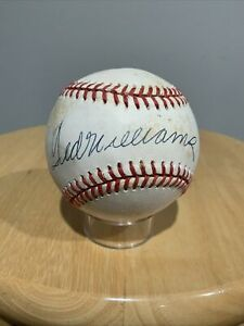 Ted Williams Boston Red Sox Signed Basebal ROMLB Upper Deck Certified