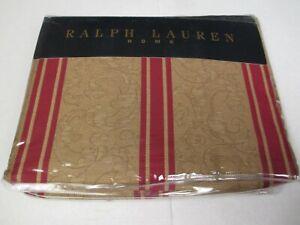 RARE Ralph Lauren Jardiniere Bertrand Red Striped Flat Sheet - king