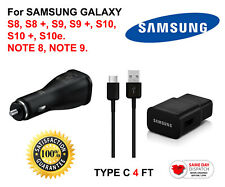 OEM Samsung Type-C fast-charger for Galaxy S8,S8+,S9,S9+,S10,S10+,S10e, Note 8,9