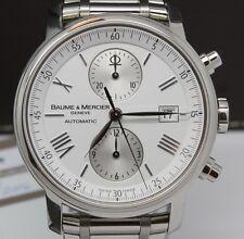 Baume & Mercier Classima XL Mens 42mm Steel Chronograph Watch Date w Boxes 65591