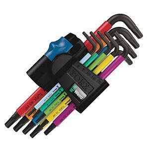 Wera 9pc Torx Allen Key Set with Holding Function - 05024179001