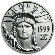 1999 Statue of Liberty Platinum Eagle $25 1/4 ounce