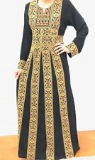 Long Sleeve Maxi Dress with Embroidery Abaya Kaftan Jilbab Thobe