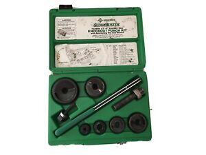 Greenlee 7238SB Manual Punch Driver Set - 15 Piece