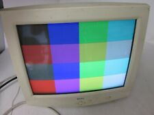 Dell M781P 957VU 17in Class Retro Gaming VGA Color CRT Monitor Screen Burn-in
