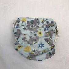 New Listingthirsties stay dry snap pocket cloth diaper Adjustable Light Blue/ Gray