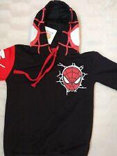 Kids Cool Boys Kinds Amazing Spiderman Hoodie Black/red - Age 8 years