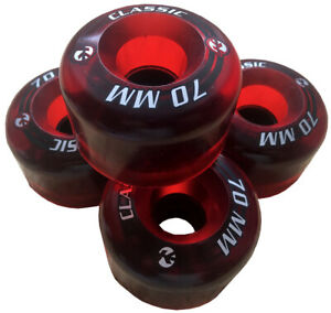 Kryptonics CLASSIC Wheels 70mm 78a Longboard skateboard cruiser downhill red PU