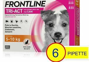 Frontline TRI-ACT 6 pipette per cani 5-10 kg NEW