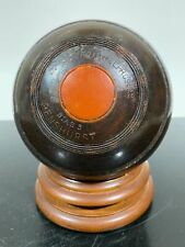 Vintage Carved Wooden Rare Early Lawn Bowling Bocce Ball