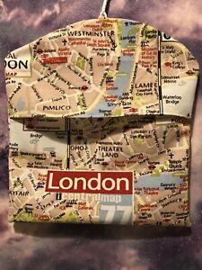 Peg bag Handmade Peg Bag Laundry Washing Line Strong Cotton Fabric London Map