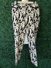 ZARA Multicolor Yellow Black Ivory Abstract Geometric Print Pants Trousers L