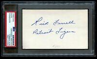 Rick Ferrell (d1995) signed autograph 3x5 card Baseball Hall of Fame PSA Slabbed