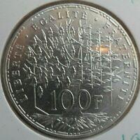 100 Francs Panthéon 1982 : FDC : pièce de monnaie Française ARGENT N1