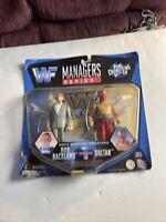 Jakks Pacific 1997 Managers Series 1 Bob Backlund Sultan MIB WWE WWF BONE CRUNCH