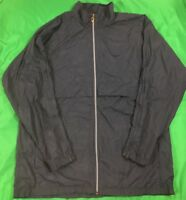 Nike Lined Full Zip Vented Windbreaker Jacket Men's SZ XL Gray EUC