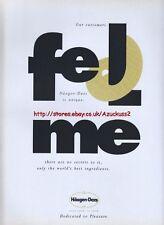 "Haagen Dazs Ice Cream ""Feel Me"" 1993 3 Page Mag Advert #1687"