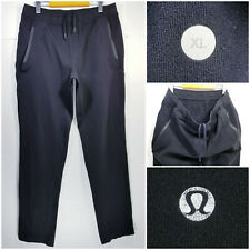 Lululemon Mens XL Athletic Sweatpants Jogger Pants Zip Pockets Drawstring Black