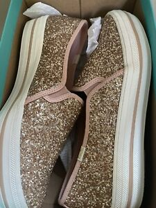 Keds x Kate Spade triple decker Slip-on rose gold Size 10M