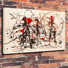"""Modern Art Abstract Jackson Pollock Printed Canvas Picture A1.30""""x20"""" 30mm Deep"""