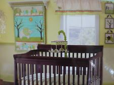 7 pc Laura Ashley Baby Elephant Parade Nursery Crib Bedding Set Collection NIP