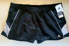 NEW ADIDAS [L] Womens CLIMALITE ROYALTY Shorts-Black/White 104515798