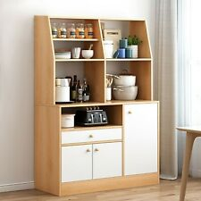Wood Storage Cabinets 3 Drawers Tall Pantry Cupboard vertical Kitchen Organizer