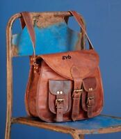 Handmade Vintage Large Hobo Purse Women Brown Leather Messenger CrossBody Bags