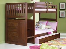Bunk Beds with Stairs and Storage Drawers