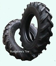 Two Tires 6.00-14 6ply Deestone Tractor Lug Tires with Tubes AND Free Shipping