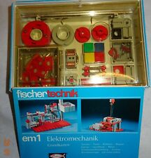 Fischertechnik Baukasten em1 Grundkasten Elektromechanik