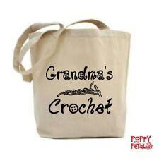 Grandma's Crochet Bolso, Regalo, Bolsa De Crochet Grandma, bolsa de artesanía, Bolso Personalizado