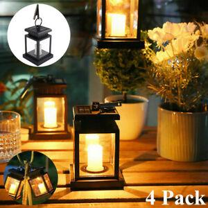 4Pack Solar Hanging LED Lantern Light Outdoor Patio Garden Decor Lamp Waterproof