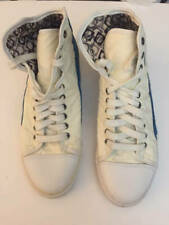 PF Flyers Hi tops Sz 11 Womens 9.5 Mens Canvas Leather White Blue