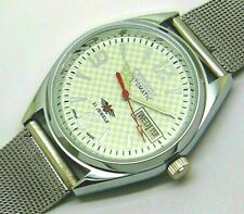 citizen automatic men steel white dial movement no 8200 vintage watch run order
