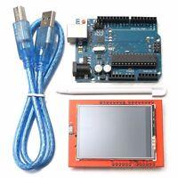UNO R3 ATmega328P Plaque + 2.4'' TFT LCD Écran Tactile Module outil pour Arduino