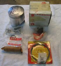 SUZUKI GT 500 T500 PISTON RING NOS 12120-15103 PISTONE FASCE FULL KIT GABBIA