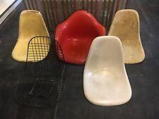 Herman Miller 4 Eames Chair Shells Fiberglass Vintage mid century modern
