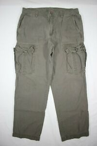 The North Face Men's 100% Cotton Cargo Pants Hiking Camping Field Gray 36x32