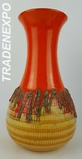 Vintage 1970s JASBA KERAMIK Orange Vase N608 11 26 West German Fat Lava Era