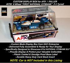 "Custom Display Case FALLER AFX #1791 6 Wheel ""1st  NATIONAL CITIBANK""  F-1 Car"
