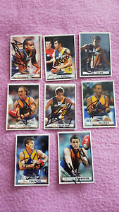 WEST COAST EAGLES HERALD SUNS 2004 SET OF 8 CARDS SIGNED