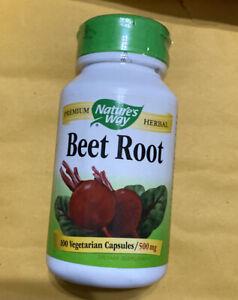 NATURE'S WAY Beet Root 500 mg 100 Vegetarian Capsules