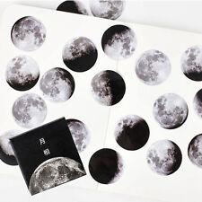 45Pcs Creative Moon Mini Paper Sticker Diary Scrapbooking Label Sticker DIY