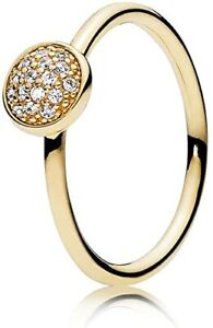 *Pandora 14k CZ Dazzling Droplet Ring #150187CZ-Size 6