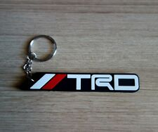 TRD TOYOTA Key ring Keychain Black Red Rubber Car Racing Collectible New Gift