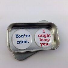 San VALENTINO, AMORE DIVERTENTE REGALO, Card alternativa, sarete gentili Magnete Set regalo fatto a mano